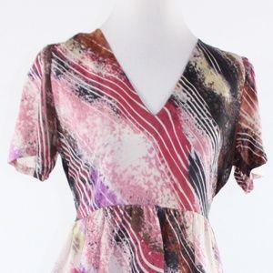 Summer & Ruby pink silk A-line dress M